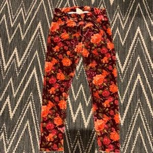 Girla Zara velvet floral leggings